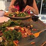 salad with steak