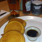 pancakes and beer at breakfast