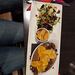 Lunch at Just be - Haggis and cheese baked potato