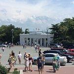 Колоннада с площади Нахимова.