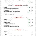 Speisekarte - Beilagen