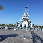Picture of the guns on the Battleship USS North Carolina