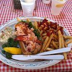 Lobster roll, Cole slaw and French fries