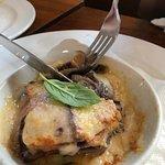 Aubergine Parmigiana is amazing. Delicious.