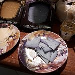 degusta queso enfrente, queso de lavanda