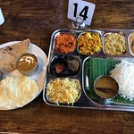 This is a classic Veg Thali - very ncie !