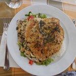 Zöld-fűszeres óriási csirkemell nagyon ízletes
