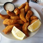 Walleye fingers appetizer - so delicious one of us almost made it their meal!