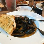 Mussels with roasted tomatoes and shaved fennel