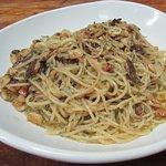Spaghettini Garlic and Oil w/ Anchovies
