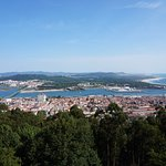 View over Viana de Costelo and the river Limia