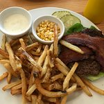 My tasky burger/fries meal. YUM!!!