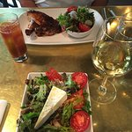 Quarter Chicken dinner and the Greek Salad with Rotisserie Chicken