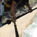 Hang gliding over Ipanema Beach