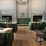The Assembly Room, where the Declaration of Independence and Constitution were signed