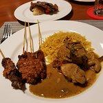 Briyani rice and satay