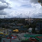 Looking down on the water park from the Ferris Wheel