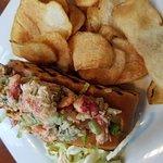 Lobster roll & homemade chips