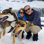 Meeting the sled dog team.