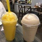 Taro and Mango smoothies