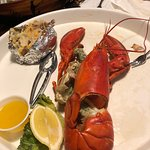 One Pound Lobster with Baked potato with cheese & bacon