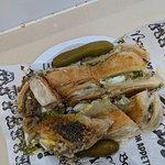 Mushroom boureka tahina, pesto & pickles ... I almost didn't have mushroom for anything else :-)