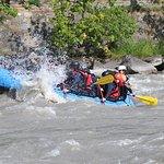 Rafting on the river Inn