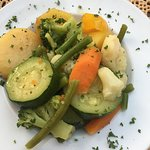Grilled vegetables for Dorada