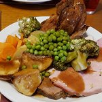 Sunday Roast, T, B & G + Potatoes, Veg and Yorkies