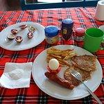 Delicious breakfast prepared by Nicholas (Bongo)
