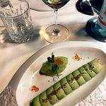 """""""Sapore di mare… Sapore di sale"""": Tartare di cernia ed avocado con purea di mela verde"""