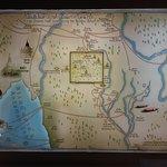 Mapa antiguo del Reino de Lanna y la ciudad de Chiang Mai