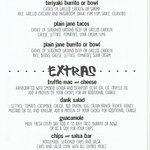 menu, August 2018