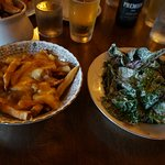 Charred Kale and Beets, with a side of Poutine: DELICIOUS