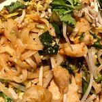 Shrimp and chicken pad Thai