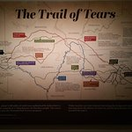 The Trail of Tears map