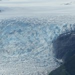 A glacier near Juneau, as viewed from a seaplane.