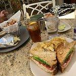 tuna sandwich, gyro and tacos