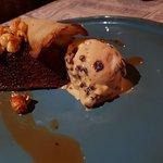 Date and rum and raisin dessert.