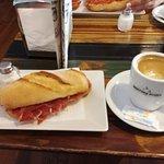catalana  jamon y cafe solo