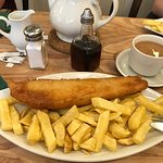Cod chips and a cuppa