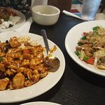My son enjoyed the Kung Pao Chicken, Drunken noodles with beef and the Mandarin? Lamb... everyth