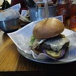 Beef burger. Nice smoky taste and sauce rather good.