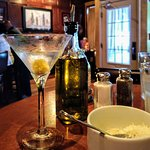 NICE martini with blue cheese olive!