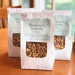 Margaret's own homemade granola. You can try in our restaurant or buy a nag to take home.