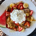 Our Inn Special French Toast - with fresh fruits and whipped cream!