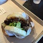 "Short rib ""burger"" with rice patty bun"