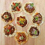 TACOS : Soft corn or  flour tortilla topped with meat (or veggies).These are our tastiest tacos