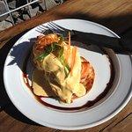 Eggs bene with salmon