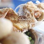 Variedad de frescos pescados